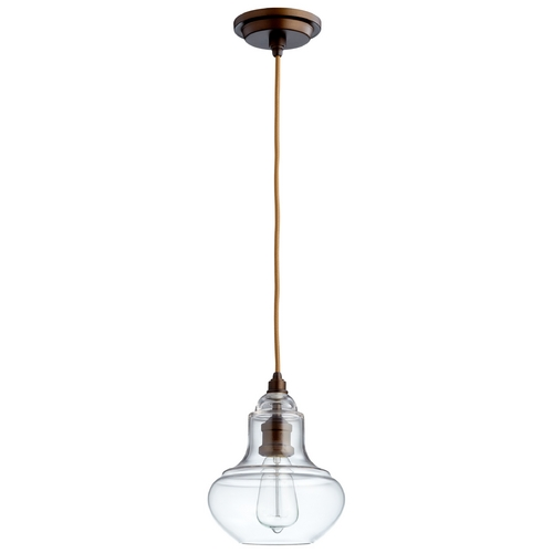 Cyan Design Cyan Design Camille Oiled Bronze Mini-Pendant with Bowl / Dome Shade 06059