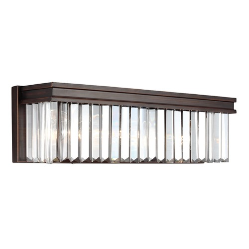 Sea Gull Lighting Sea Gull Lighting Carondelet Burnt Sienna Bathroom Light 4414003-710