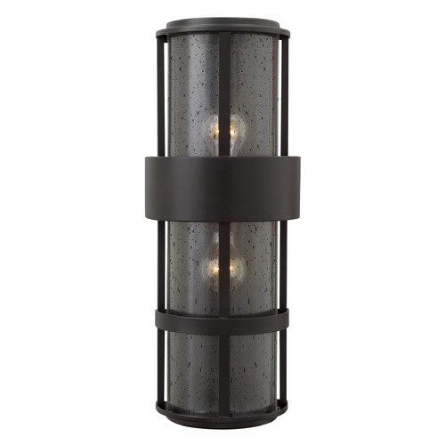 Hinkley Lighting Hinkley Lighting Saturn Satin Black Outdoor Wall Light 1909SK
