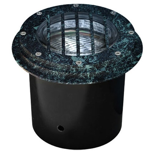 Dabmar Lighting Verde Green Cast Aluminum In-Ground Well Light with Grill LV305-VG-SLV