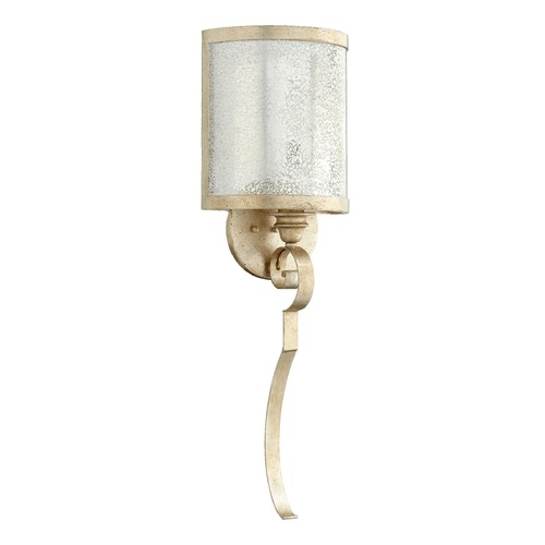Quorum Lighting Quorum Lighting Champlain Aged Silver Leaf Sconce 5481-1-60