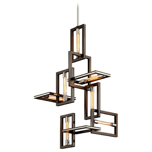 Troy Lighting Troy Lighting Enigma Bronze with Polished Stainless Pendant Light F6187