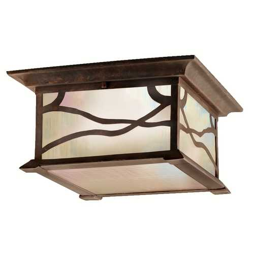 Kichler Lighting Kichler Distressed Copper Outdoor Ceiling Light 9838DCO