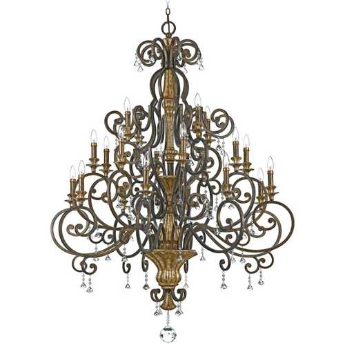 Quoizel Lighting Quoizel 20-Light Chandelier in Heirloom MQ5020HL