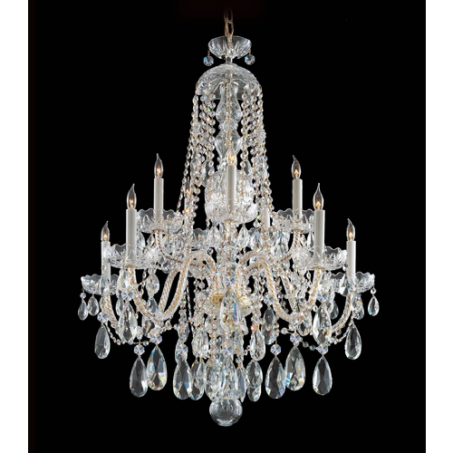 Crystorama Lighting Crystal Chandelier in Polished Brass Finish 1110-PB-CL-MWP