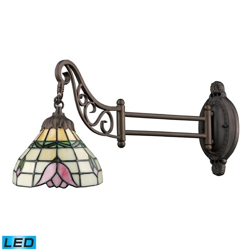 Elk Lighting Elk Lighting Mix-N-Match Tiffany Bronze LED Swing Arm Lamp 079-TB-09-LED