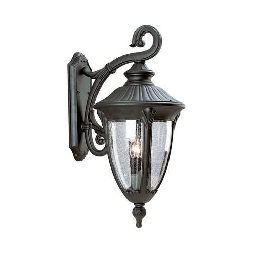 Progress Lighting Progress Outdoor Wall Light with Clear Glass in Textured Black Finish P5824-31