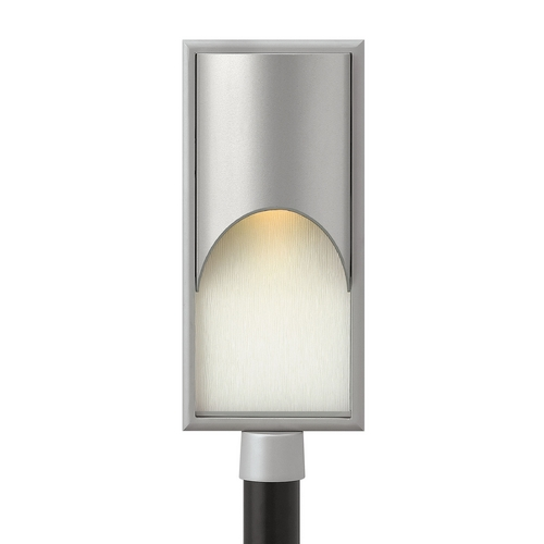 Hinkley Lighting Modern LED Post Light with White Glass in Titanium Finish 1831TT-LED