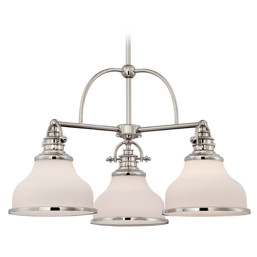 Quoizel Lighting Farmhouse Chandelier Silver Grant by Quoizel Lighting GRT5103IS