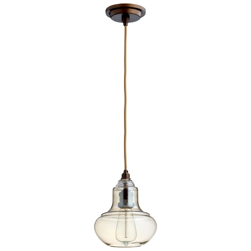 Cyan Design Cyan Design Camille Oiled Bronze Mini-Pendant with Bowl / Dome Shade 06060