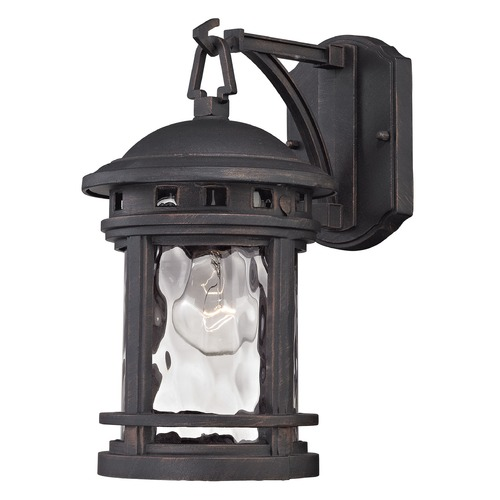 Elk Lighting Elk Lighting Costa Mesa Weathered Charcoal Outdoor Wall Light 45110/1