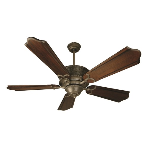 Craftmade Lighting Craftmade Lighting Riata Aged Bronze Textured Ceiling Fan Without Light K10182