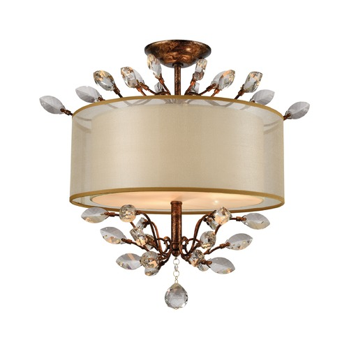 Elk Lighting Elk Lighting Asbury Spanish Bronze Semi-Flushmount Light 16291/3