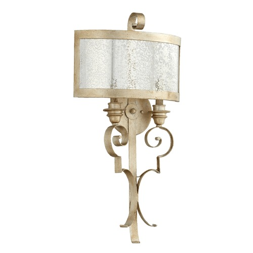 Quorum Lighting Quorum Lighting Champlain Aged Silver Leaf Sconce 5481-2-60