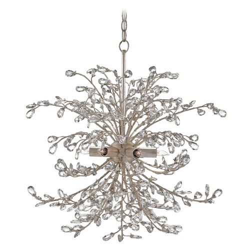Currey and Company Lighting Currey and Company Tiara Silver Granello Pendant Light 9439