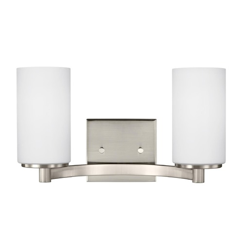 Sea Gull Lighting Sea Gull Lighting Hettinger Brushed Nickel Bathroom Light 4439102-962