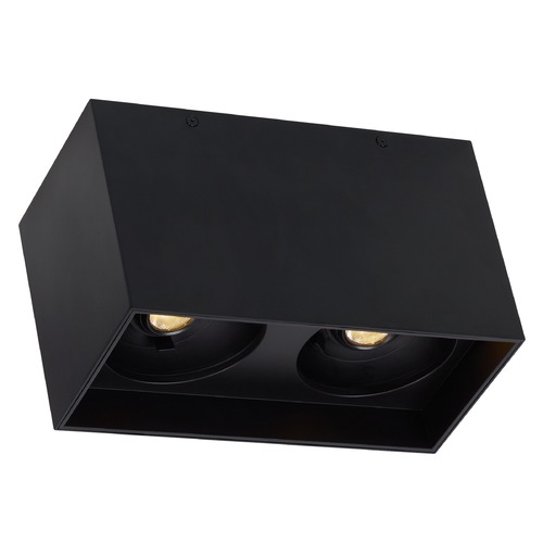 Tech Lighting Black LED Flushmount Ceiling Light by Tech Lighting 700FMEXOD630BB-LED927