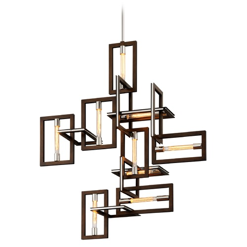 Troy Lighting Troy Lighting Enigma Bronze with Polished Stainless Pendant Light F6189