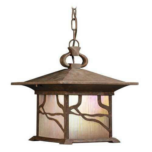 Kichler Lighting Kichler Distressed Copper Outdoor Hanging Light 9837DCO