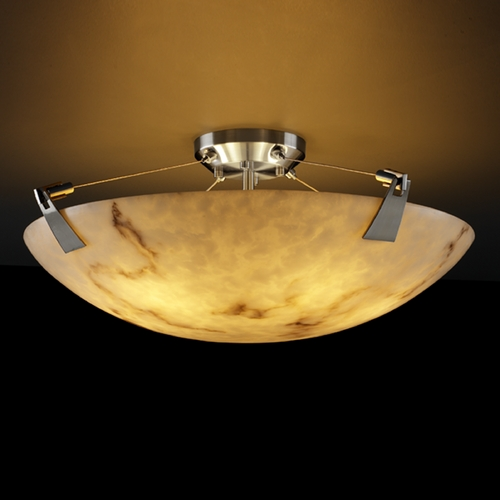 Justice Design Group Justice Design Group Lumenaria Collection Semi-Flushmount Light FAL-9634-35-NCKL