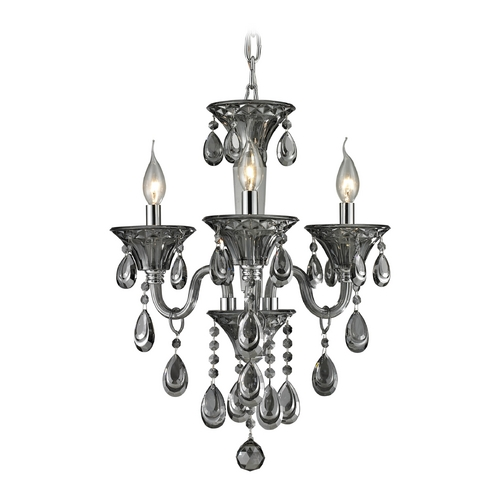 Elk Lighting Crystal Chandelier in Smoke Plated Finish 80011/3