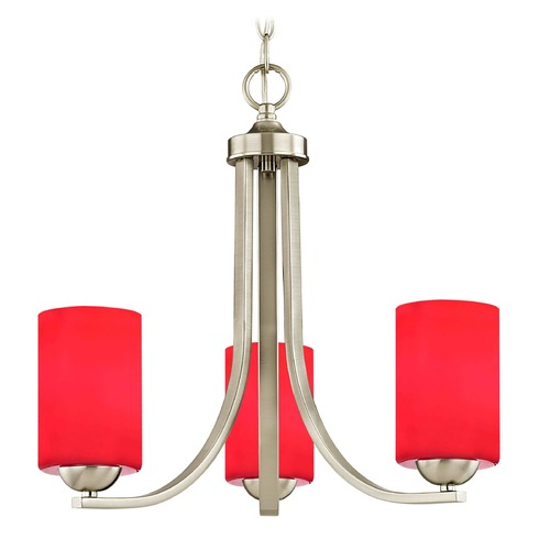 Design Classics Lighting Design Classics Dalton Fuse Satin Nickel Mini-Chandelier 5843-09 GL1008C