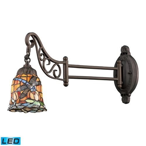 Elk Lighting Elk Lighting Mix-N-Match Tiffany Bronze LED Swing Arm Lamp 079-TB-12-LED