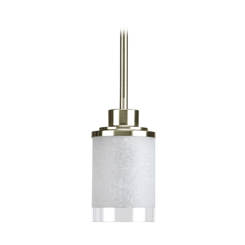 Progress Lighting Progress Modern Mini-Pendant Light with White Glass P5147-09