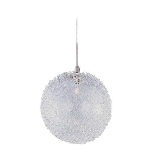 ET2 Lighting Minx Satin Nickel Mini-Pendant Light with Globe Shade E94317-78SN