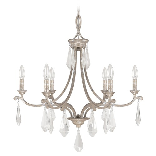 Capital Lighting Capital Lighting Harlow Silver Quartz Crystal Chandelier 4496SQ-000-CR