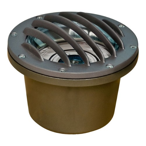 Dabmar Lighting Bronze Cast Aluminum In-Ground Well Light with Grill LV305-BZ-MR