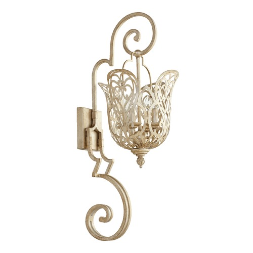 Quorum Lighting Quorum Lighting Le Monde Aged Silver Leaf Sconce 5492-4-60
