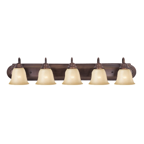 Maxim Lighting Bathroom Light with Beige / Cream Glass in Oil Rubbed Bronze Finish 8015WSOI