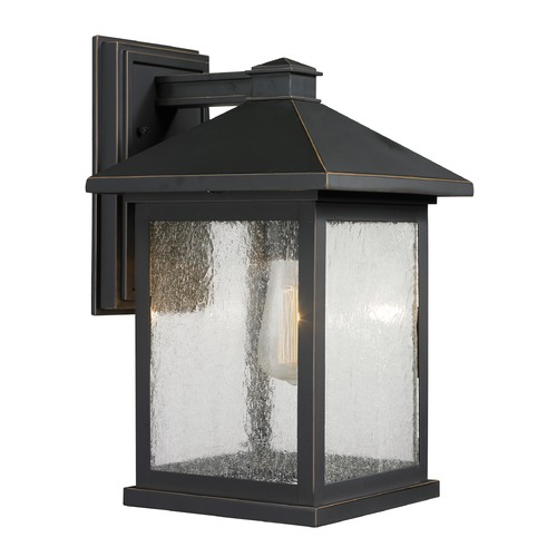 Z-Lite Z-Lite Portland Oil Rubbed Bronze Outdoor Wall Light 531B-ORB