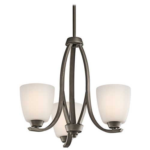 Kichler Lighting Kichler Mini-Chandelier with White Glass in Olde Bronze Finish 42556OZ