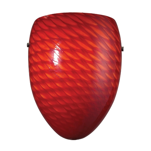 Elk Lighting Modern Sconce Wall Light with Red Glass in Satin Nickel Finish 426-1SC