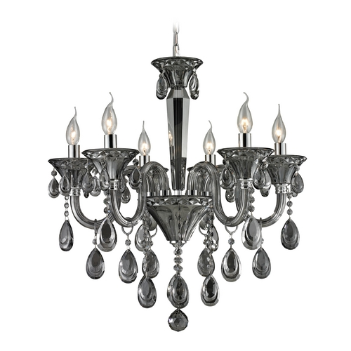 Elk Lighting Crystal Chandelier in Smoke Plated Finish 80012/6