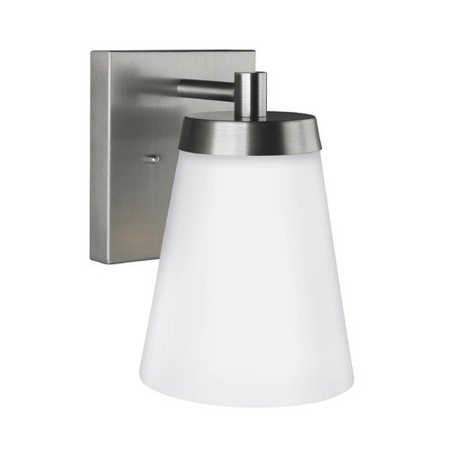 Sea Gull Lighting Sea Gull Lighting Renville Satin Aluminum Outdoor Wall Light 8638601-04