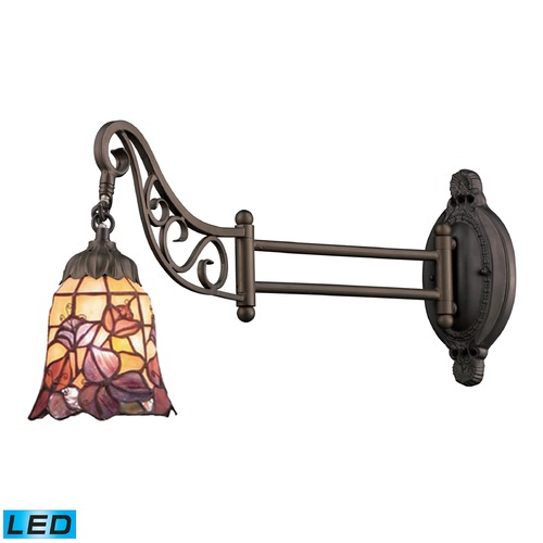 Elk Lighting Elk Lighting Mix-N-Match Tiffany Bronze LED Swing Arm Lamp 079-TB-17-LED
