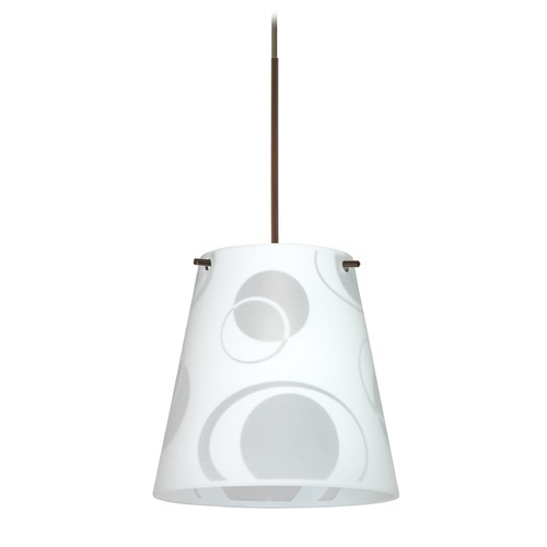Besa Lighting Besa Lighting Amelia Bronze LED Mini-Pendant Light with Empire Shade 1XT-4477CS-LED-BR