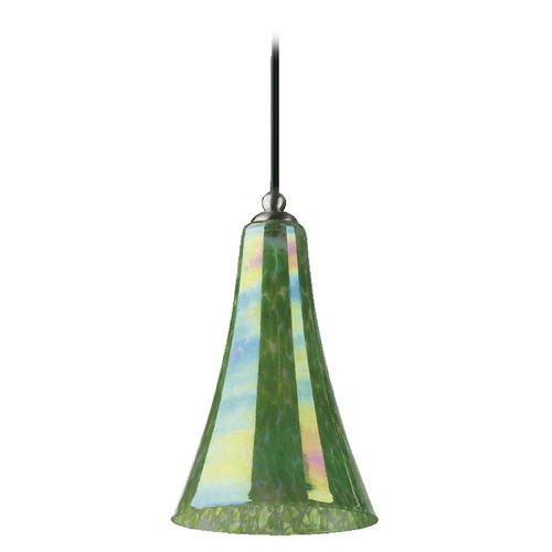 Quorum Lighting Quorum Lighting Satin Nickel Mini-Pendant Light with Bell Shade 866-65