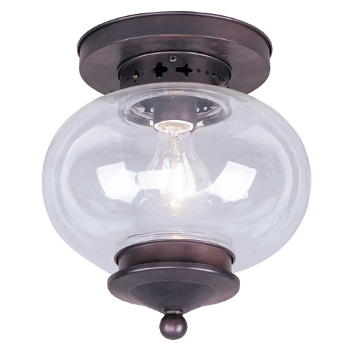 Livex Lighting Livex Lighting Harbor Bronze Close To Ceiling Light 5032-07