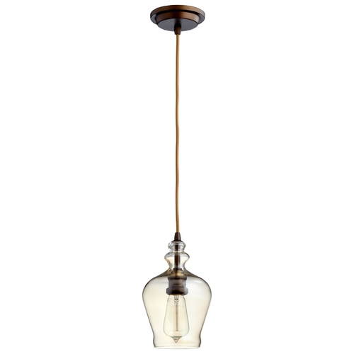 Cyan Design Cyan Design Calista Oiled Bronze Mini-Pendant with Bowl / Dome Shade 06062