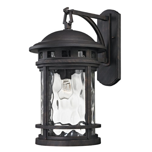Elk Lighting Elk Lighting Costa Mesa Weathered Charcoal Outdoor Wall Light 45112/1