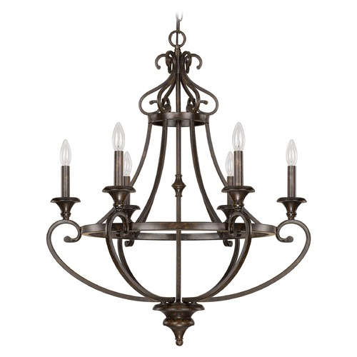 Capital Lighting Capital Lighting Maxwell Chesterfield Brown Chandelier 4536CB-000
