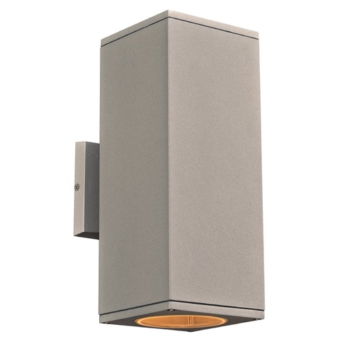 PLC Lighting PLC Lighting Dominick Silver LED Outdoor Wall Light 2087SL