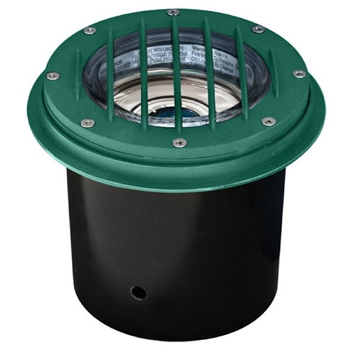 Dabmar Lighting Green Cast Aluminum In-Ground Well Light with Grill LV305-G-MR