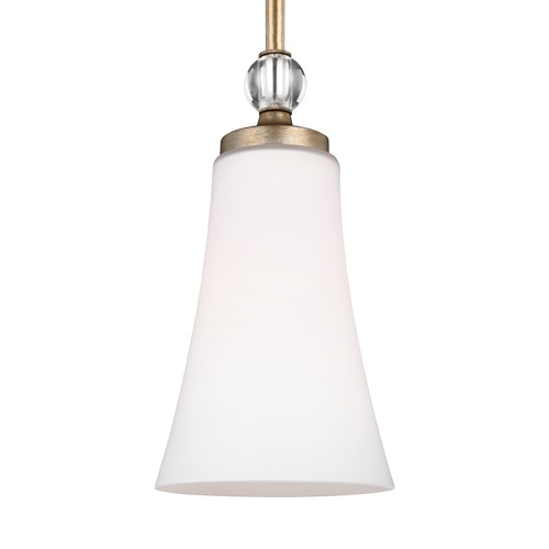 Feiss Lighting Feiss Lighting Evington Sunset Gold Mini-Pendant Light with Bell Shade P1415SG