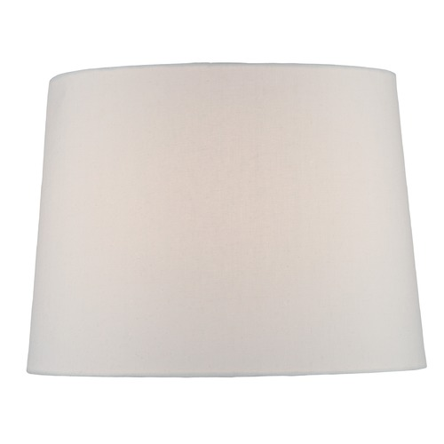 Lite Source Lighting White Drum Lamp Shade with Spider Assembly CH1260-14
