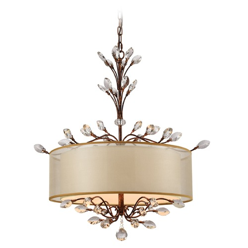 Elk Lighting Elk Lighting Asbury Spanish Bronze Pendant Light with Drum Shade 16292/4